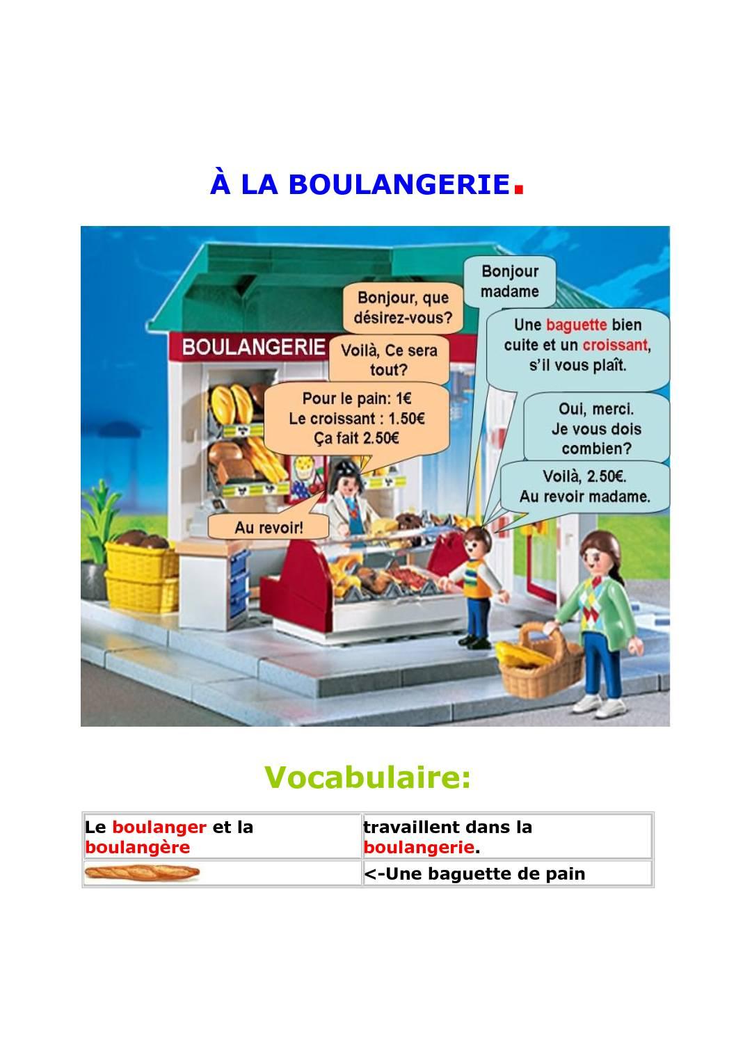A La Boulangerie Dialogue