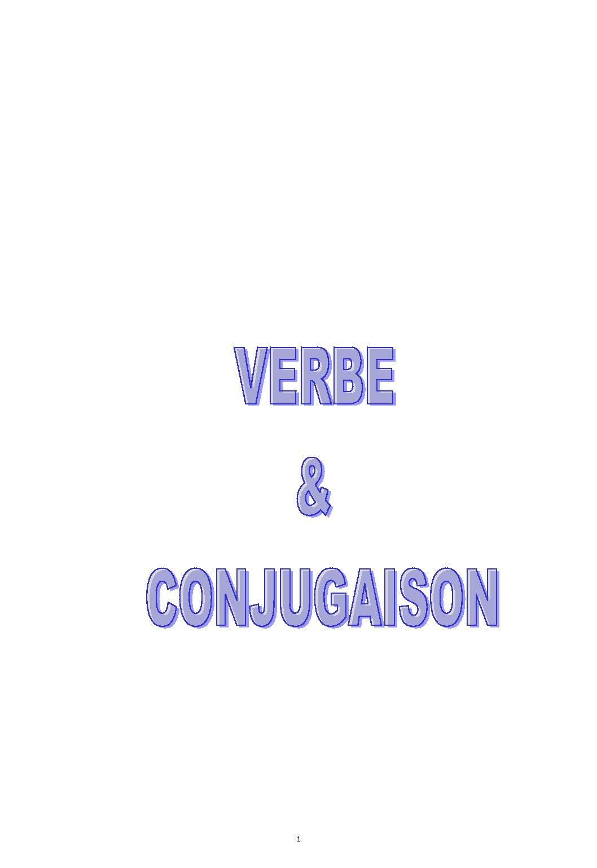 Apprendre les verbes et la conjugaison