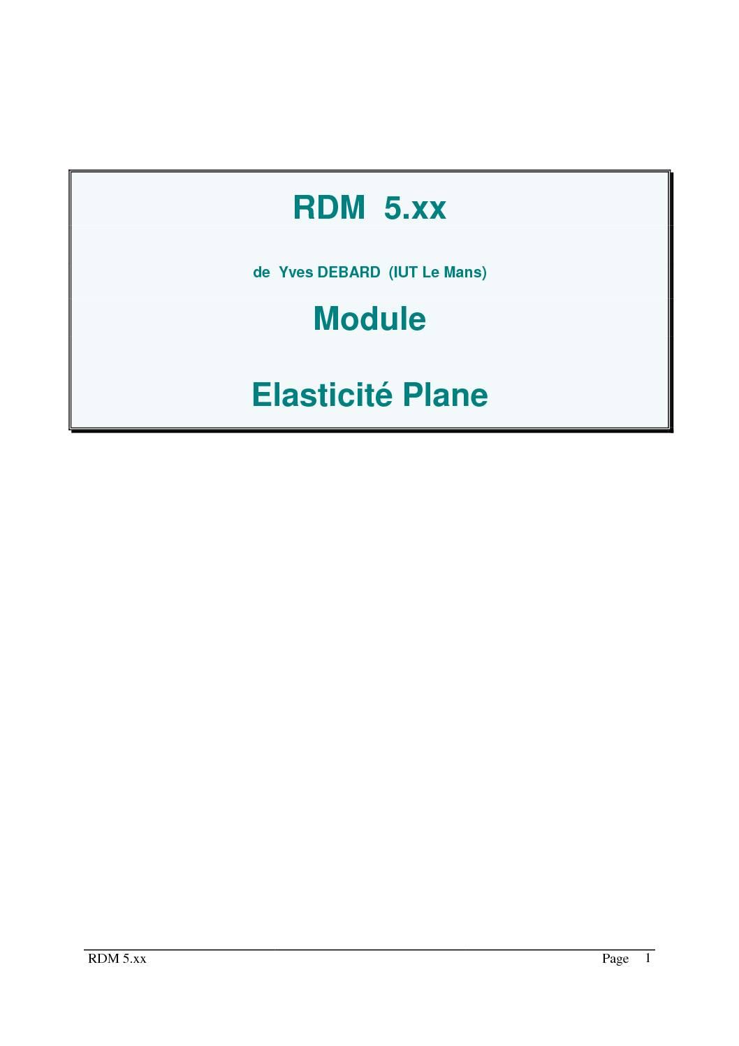 Cours résistance des matériaux (RDM)