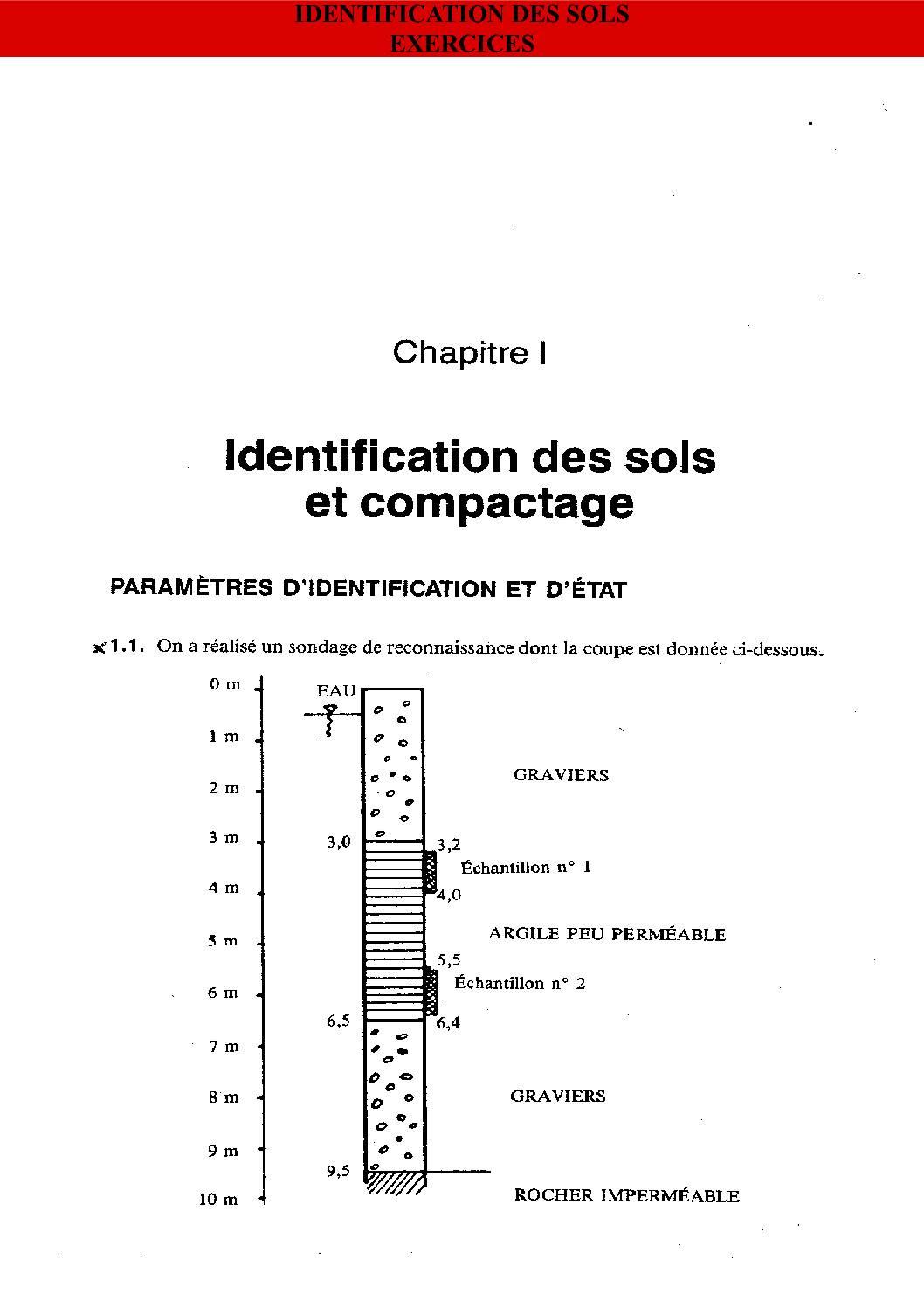 Exercices Geotechnique – Identification Des Sols
