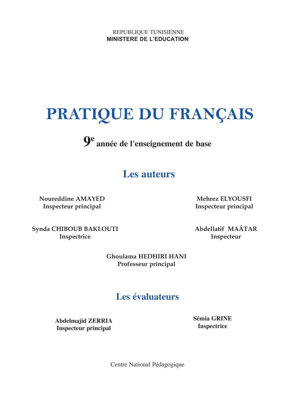Pratique du français pdf