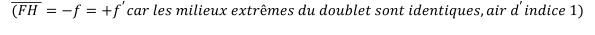 KutoolsEquPic:((𝐹𝐻 )̅=−𝑓=+𝑓^′ 𝑐𝑎𝑟 𝑙𝑒𝑠 𝑚𝑖𝑙𝑖𝑒𝑢𝑥 𝑒𝑥𝑡𝑟ê𝑚𝑒𝑠 𝑑𝑢 𝑑𝑜𝑢𝑏𝑙𝑒𝑡 𝑠𝑜𝑛𝑡 𝑖𝑑𝑒𝑛𝑡𝑖𝑞𝑢𝑒𝑠, 𝑎𝑖𝑟 𝑑^′ 𝑖𝑛𝑑𝑖𝑐𝑒 1)